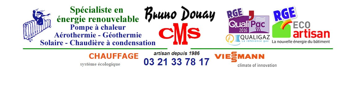 Plombier Chauffagiste Marquise 62250 Bruno Douay CMS 03 21 33 78 17
